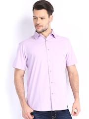 Fabels by Fabindia Men Purple Casual Shirt