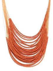 Fabindia Amna Orange Beaded Necklace
