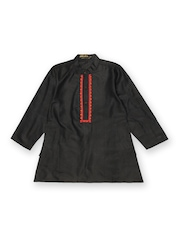Fabindia Boys Black Silk Kurta