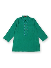Fabindia Boys Green Kurta