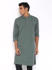 Fabindia Men Teal Green Kurta