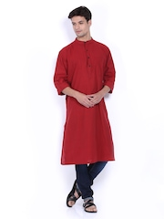 Fabindia Men Red Kurta