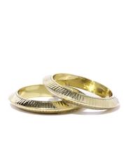 Fabindia Amna Set of 2 Gold-Toned Bangles