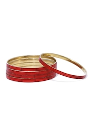 Fabindia Amna Set of 5 Red Bangles