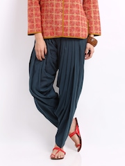 Fabindia Women Navy Patiala Pants