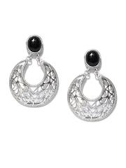 Fabindia Ananya Black & Silver Drop Earrings