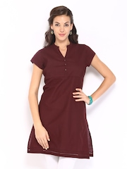 Fabindia Women Brown Kurta