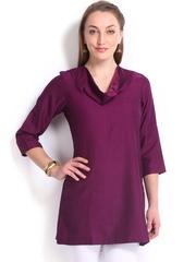 Fabindia Women Magenta Woollen Tunic