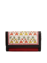 Fabindia Women Red & Off-White Wallet