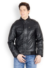 Fair Wind Men Black Bomber Jacket
