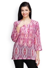 Famous by Payal Kapoor Women Pink Printed Kurti
