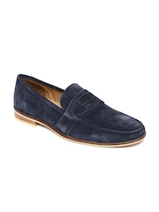 Famozi Men Navy Suede Casual Shoes