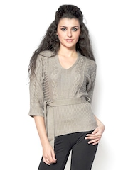 Fashley London Women Brown Sweater