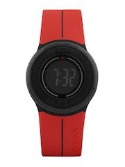 Fastrack Digitals Women Red LCD Digital Watch 68005PP02J,MILI0227
