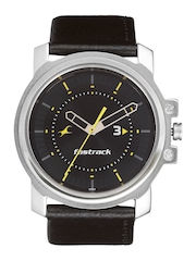 Fastrack Men Black Dial Watch NA3039SL02