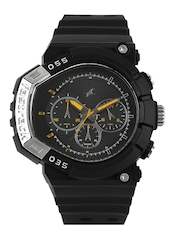 Fastrack Men Chronograph Black Dial Watch 38007PP02