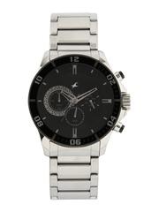 Fastrack Men Black Dial Chronograph Watch 3072SM02