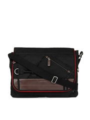 Fastrack Men Black Laptop Messenger Bag