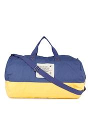 Fastrack Men Blue & Yellow Duffel Bag
