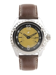 Fastrack Men Golden Dial Watch