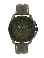 Fastrack Men Olive Green Dial Watch