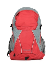 Fastrack Men Red and Grey Backpack