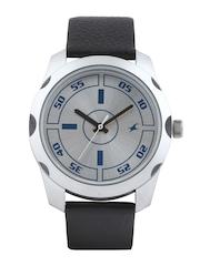 Fastrack Men Steel-Toned Dial Watch 3123SL01