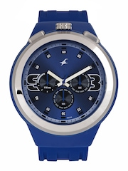 Fastrack Men Blue Dial Chronograph Watch 38002PP03