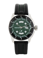 Fastrack Men Green Dial Watch