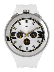 Fastrack Men Chronograph White Dial Watch 38002PP01