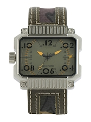 Fastrack Men Olive Dial Watch