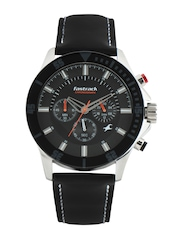 Fastrack Men Charcoal Dial Watch
