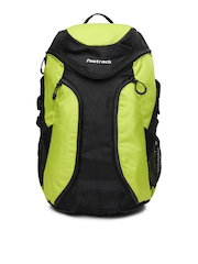 Fastrack Unisex Lime Green & Black Backpack