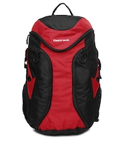 Fastrack Unisex Red & Black Backpack