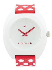 Fastrack Unisex White Dial Watch