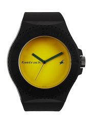 Fastrack Unisex Yellow Dial Watch 9949PP09