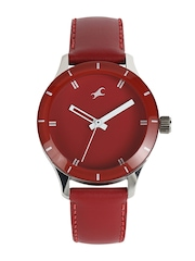 Fastrack Women Red Dial Watch 6078SL06