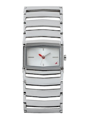 Fastrack Women Silver Toned Dial Watch