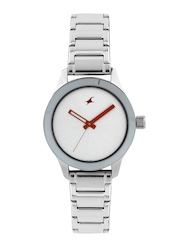 Fastrack Women Silver-Toned Dial Watch 6078SM02