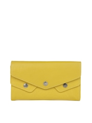 Fastrack Women Mustard Yellow Genuine Leather Wallet