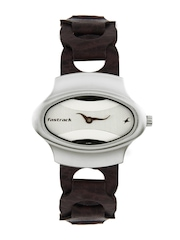 Fastrack Women Silver Dial Watch