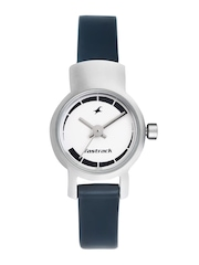 Fastrack Women White Dial Watch N2298SL04