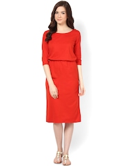 Femella Red Midi Dress