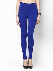 Femella Women Blue Premium Super Stretch Leggings