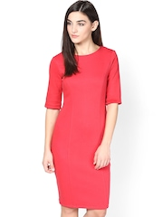 Femella Coral Pink Sheath Dress
