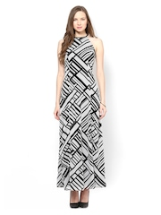 Femella Black Printed Maxi Dress