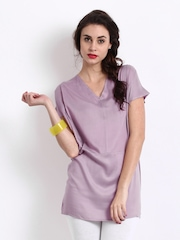 Femella Women Mauve Shadow Tunic