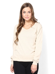 Femella Women Cream-Coloured Sweater