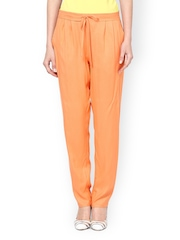 Femella Peach Coloured Relaxed Fit Trousers