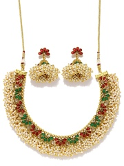 Fida Gold-Toned & White Jewellery Set